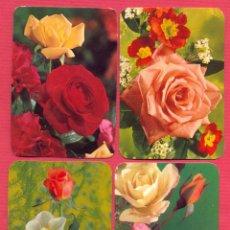 Coleccionismo Calendarios: LOTE DE 4 CALENDARIO IMÁGENES DE FLORES - AÑO 1977 MEDIDAS: 6,5 X 9,5 - CL68. Lote 95588271