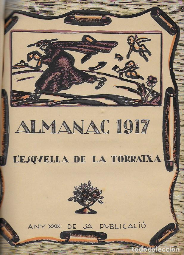 Coleccionismo Calendarios: Almanac de l' Esquella de la Torratxa per a 1917. 30x23 cm. 80 p. - Foto 2 - 95835019