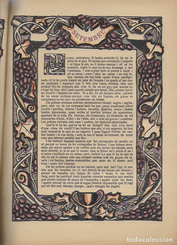 Coleccionismo Calendarios: Almanac de l' Esquella de la Torratxa per a 1917. 30x23 cm. 80 p. - Foto 5 - 95835019
