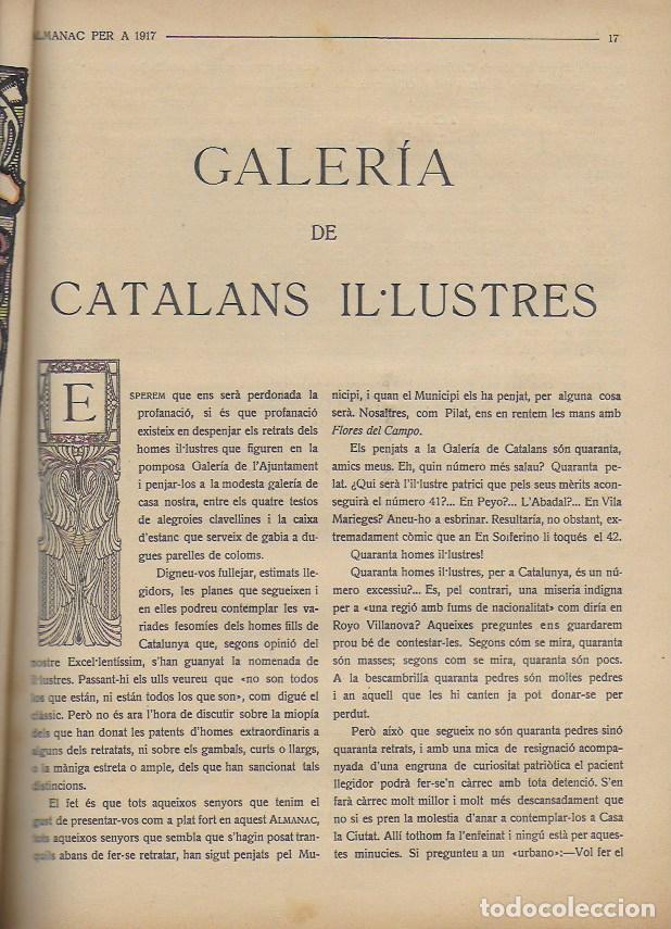 Coleccionismo Calendarios: Almanac de l' Esquella de la Torratxa per a 1917. 30x23 cm. 80 p. - Foto 7 - 95835019
