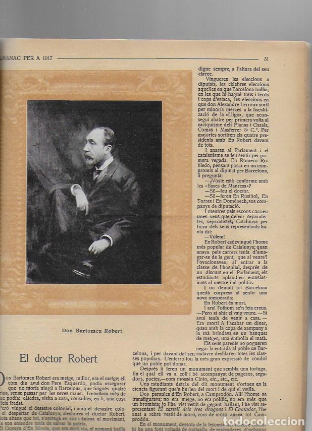 Coleccionismo Calendarios: Almanac de l' Esquella de la Torratxa per a 1917. 30x23 cm. 80 p. - Foto 10 - 95835019