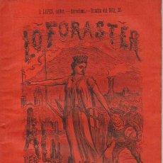 Coleccionismo Calendarios: LO FORASTER. ALMANACH PER L' ANY 1872. BCN : L. LOPEZ EDITOR. 21X15CM. 48 P.. Lote 95837155