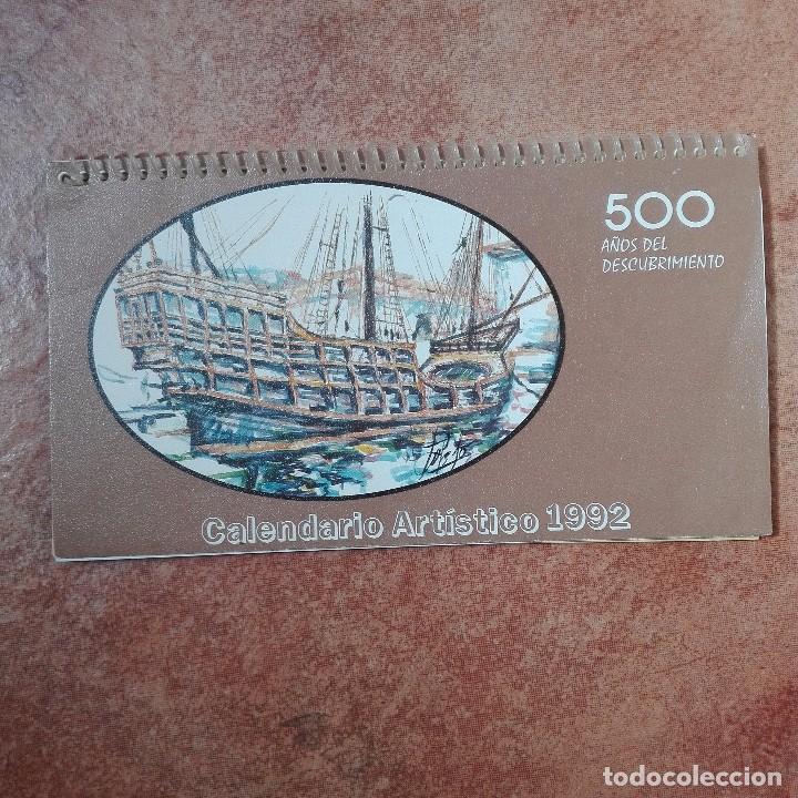 CALENDARIO ARTÍSTICO 1992 PINTORES CON LA BOCA Y EL PIE 500 ANIVERSARIO DEL DESCUBRIMIENTO DE AMÉRIC (Coleccionismo - Calendarios)