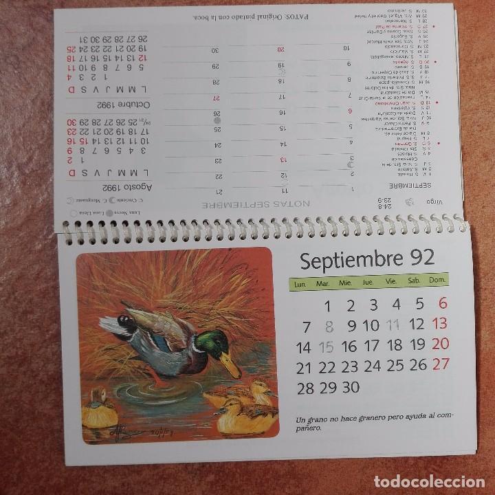 Coleccionismo Calendarios: Calendario artístico 1992 pintores con la boca y el pie 500 aniversario del descubrimiento de Améric - Foto 2 - 95863847