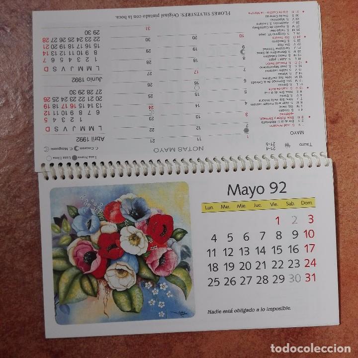 Coleccionismo Calendarios: Calendario artístico 1992 pintores con la boca y el pie 500 aniversario del descubrimiento de Améric - Foto 4 - 95863847