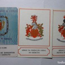 Coleccionismo Calendarios: LOTE CALENDARIOS EXTRANJEROS 1985-1992 ESCUDOS ARMAS MILITARES. Lote 95975871