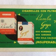 Coleccionismo Calendarios: CALENDARIO FOURNIER. TABACO RUMBO Y GOYA. 1964. Lote 96793123