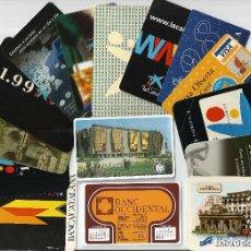 Coleccionismo Calendarios: LOTE 15 CALENDARIOS, BANCOS, CAIXAS - NO FOURNIER, DESDE 1975 A 2010. Lote 84320096