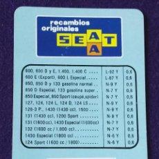 Coleccionismo Calendarios: CALENDARIO FOURNIER. SEAT. CHAMPION. 1977. Lote 97226183
