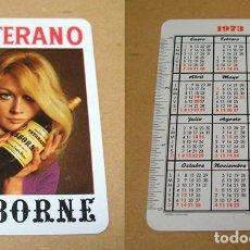 Coleccionismo Calendarios: CALENDARIO BOLSILLO VETERANO OSBORNE 1973 FOURNIER. BUEN ESTADO. Lote 97257375