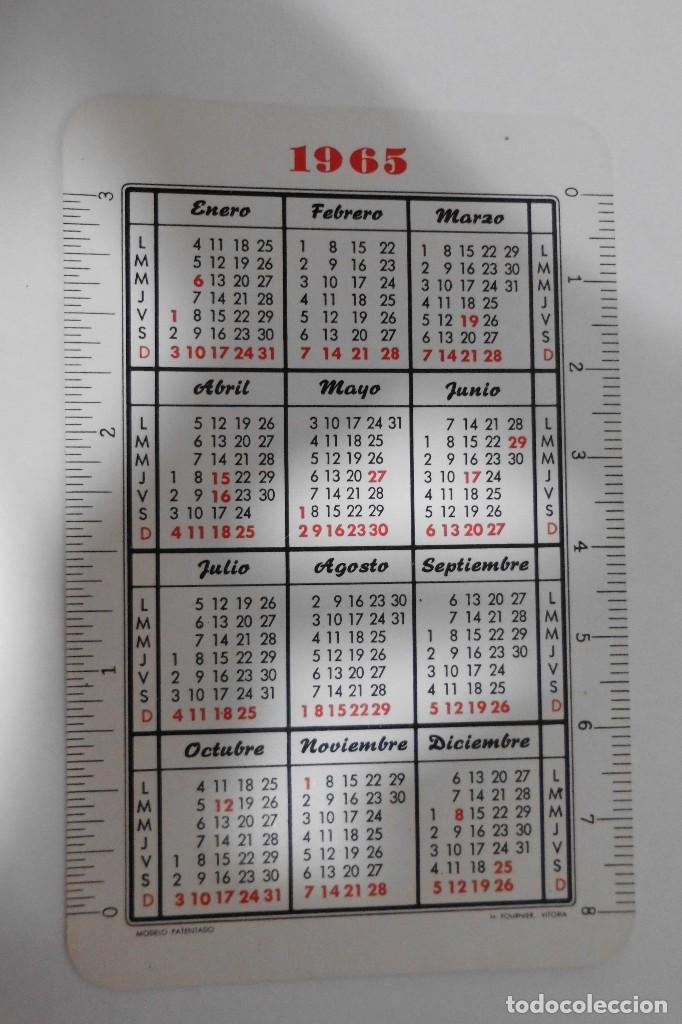 Coleccionismo Calendarios: CALENDARIO FOURNIER 1965 HOTEL NTRA. SRA. DEL CARMEN - MADRID - Foto 2 - 97416439