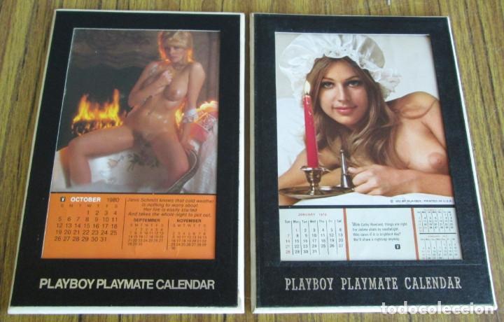 Calendario Play Boy.2 Calendario Playboy Playmate Calendar Con Bipede Como Portarretratos 1980 Oct 1973 Ener