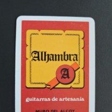 Coleccionismo Calendarios: CALENDARIO DE BOLSILLO - ALHAMBRA GUITARRAS - FOURNIER - AÑO 1982. Lote 97560191