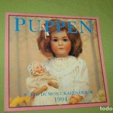 Coleccionismo Calendarios: CALENDARIO ALEMÁN DE 1994 DE MUÑECAS ANTIGUAS. Lote 97580531
