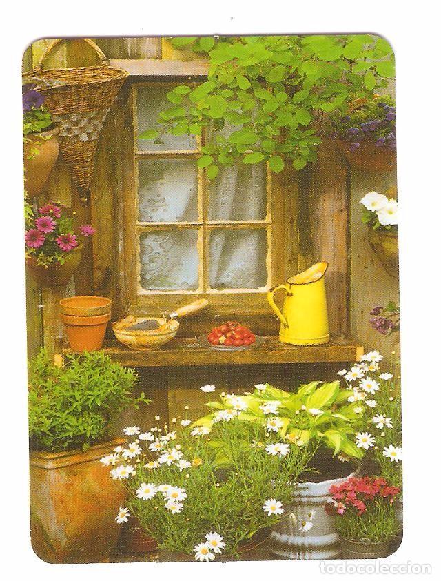 CALENDARIO DE BOLSILLO DE SERIE AÑO 2006 BO. 663 VENTANA - FLORES - PUBLICIDAD EN REVERSO (Coleccionismo - Calendarios)