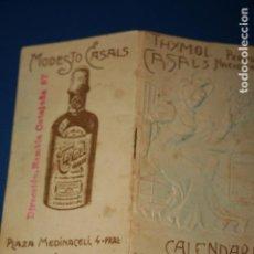 Coleccionismo Calendarios: CALENDARIO PARA 1908, PUBLICIDAD DE THYMOL CASALS, PRODUCTO NACIONAL, BARCELONA. Lote 98094251
