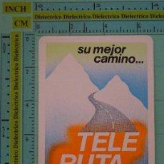 Coleccionismo Calendarios: CALENDARIO DE BOLSILLO. AÑO 1986. TELE RUTA MOPU. DIRECCIÓN GENERAL DE CARRETERAS. Lote 98513243