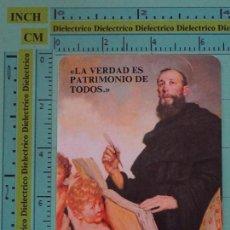 Coleccionismo Calendarios: CALENDARIO DE BOLSILLO RELIGIOSO. AÑO 1986. FEDERACIÓN AGUSTINIANA ESPAÑOLA. SAN AGUSTIN. Lote 98513471