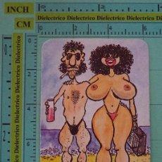 Coleccionismo Calendarios: CALENDARIO DE BOLSILLO. AÑO 1988. DESNUDOS PLAYA. MARU CON LAILO. HUMOR EL JUEVES. Lote 98513539