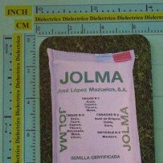 Coleccionismo Calendarios: CALENDARIO DE BOLSILLO. AÑO 1988 1989. SEMILLAS JOLMA DE OSUNA, SEVILLA. Lote 98513599