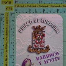 Coleccionismo Calendarios: CALENDARIO DE BOLSILLO. AÑO 1998. ACEITE DE OLIVA VIRGEN EXTRA, PRIEGO DE CÓRDOBA, CÓRDOBA. Lote 98513687