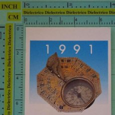 Coleccionismo Calendarios: CALENDARIO DE BOLSILLO. AÑO 1991. BANCOS. BANCO ATLÁNTICO. RELOJ SOLAR. Lote 98513743
