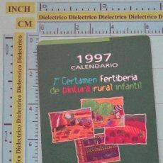 Coleccionismo Calendarios: CALENDARIO DE BOLSILLO. AÑO 1997. FERTILIZANTES FERTIBERIA. Lote 98513775