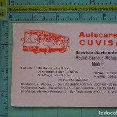 Coleccionismo Calendarios: CALENDARIO DE BOLSILLO. AÑO 1983. AUTOCARES CUVISA. MADRID GRANADA MÁLAGA. Lote 98513827