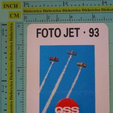 Coleccionismo Calendarios: CALENDARIO DE BOLSILLO. AÑO 1993. FOTO JET 93 QSS AVIONES. Lote 98513895