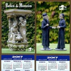 Coleccionismo Calendarios: 2 CALENDARIOS BOLSILLO - BELEN MONZON 2017. Lote 147216810