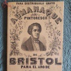 Coleccionismo Calendarios: ALMANAQUE DE BRISTOL 1904 CALCULADO PARA LA PENINSULA ESPAÑOLA. Lote 98935075