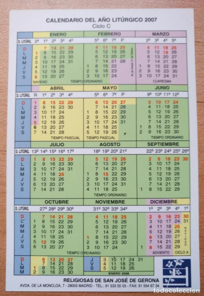 Coleccionismo Calendarios: Ca 55 Calendario 200 Religiosas San José de Gerona - 2007 - Foto 2 - 99180795