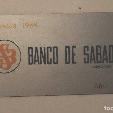 Coleccionismo Calendarios: CALENDARIO DE BOLSILLO BANCO DE SABADELL METÁLICO 1970. Lote 99242707