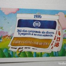 Coleccionismo Calendarios: CALENDARIO BANCO BILBAO 1976 --FOURNIER. Lote 99321483