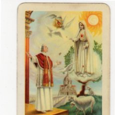 Coleccionismo Calendarios: CALENDARIO FOURNIER VISION FATIMISTA DE PIO XII AÑO 1960. Lote 99558415