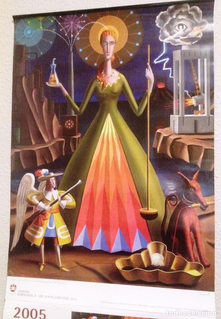 CALENDARIO DE PARED DE UNION ESPAÑOLA DE EXPLOSIVOS- AÑO 2005- SIGFRIDO MARTIN BEGUÉ (Coleccionismo - Calendarios)