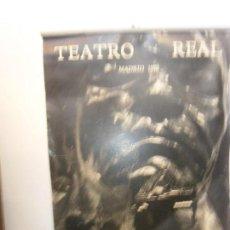 Coleccionismo Calendarios: PUBLICIDAD TEATRO - CALENDARIO TEATRO REAL MADRID 1970 FOTOGRAFIAS JUAN GYENES. Lote 101003559