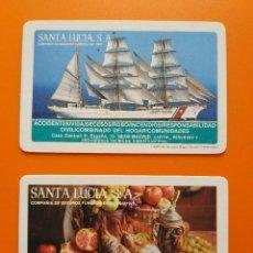Coleccionismo Calendarios: 2 CALENDARIOS SANTA LUCIA - NO FOURNIER - (1983 Y 1985). Lote 101473227