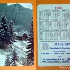 Coleccionismo Calendarios: CALENDARIO EDITADO EN PORTUGAL - 1990 - REILIMA - SOCIEDADE DE CONSTRUÇÓES, LDA.. Lote 101795335