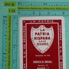 Coleccionismo Calendarios: CALENDARIO DE BOLSILLO. AÑO 1984. LA PATRIA HISPANA SEGUROS. ASEGURADORA. Lote 102022595