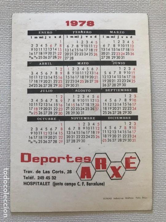 Calendario Del Barca.Calendario 1978 Fcb Barca Futbol Club Barcelona