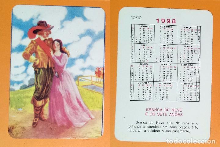1998 Calendario.Calendario Dibujo Infantil Editado En Portugal 1998 Branca De Neve E Os Sete Anoes