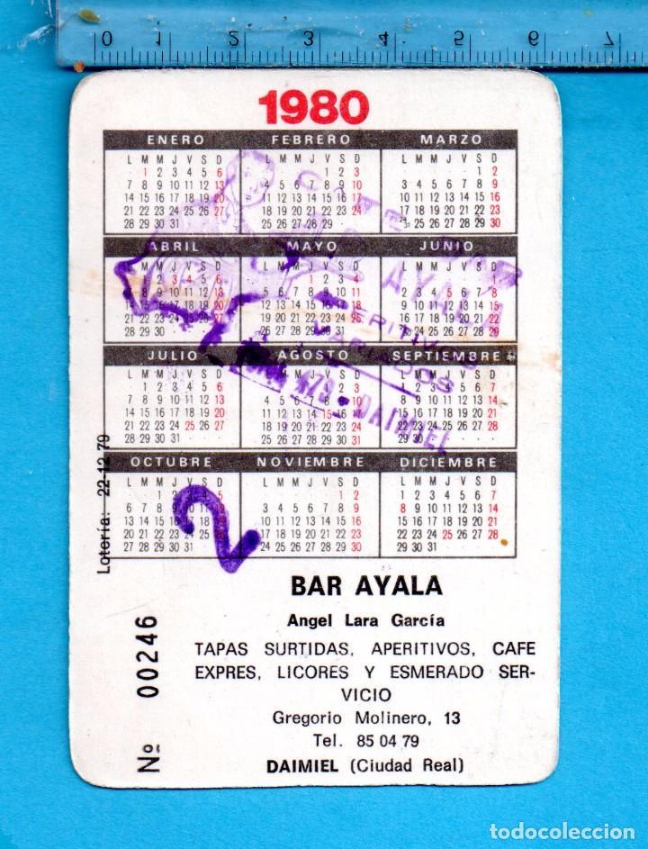 Coleccionismo Calendarios: Cal. Año 1980 un bonito Niños Comiendo Dulces Publicidad de un Bar de Daimiel (ciudad real) - Foto 2 - 102694475