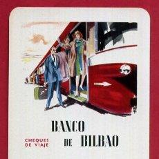 Coleccionismo Calendarios: CALENDARIO FOURNIER , PUBLICIDAD BANCO BILBAO , 1963 , ORIGINAL , CAL9555. Lote 102943971