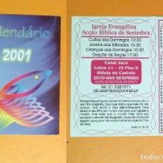 Coleccionismo Calendarios: CALENDARIO EDITADO EN PORTUGAL - 2001 - IGREJA EVANGÉLICA. Lote 103042123