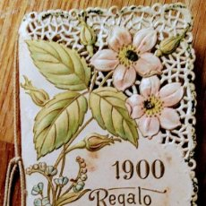 Coleccionismo Calendarios: PRECIOSO CALENDARIO BOLSILLO REGALO CASA EVARISTO JUNCOSA AÑO 1900. Lote 103452183