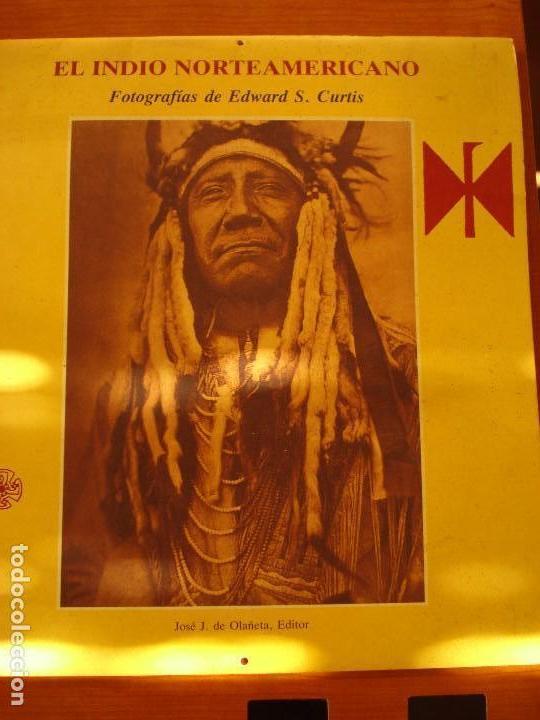 EL INDIO NORTEAMERICANO - EDWARD S CURTIS - OLAÑETA EDITOR (Coleccionismo - Calendarios)