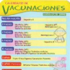 Coleccionismo Calendarios: CALENDARIO CALENDARIO VACUNACION 2006. Lote 104368219
