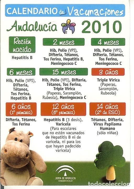 CALENDARIO CALENDARIO VACUNACION 2010 (Coleccionismo - Calendarios)