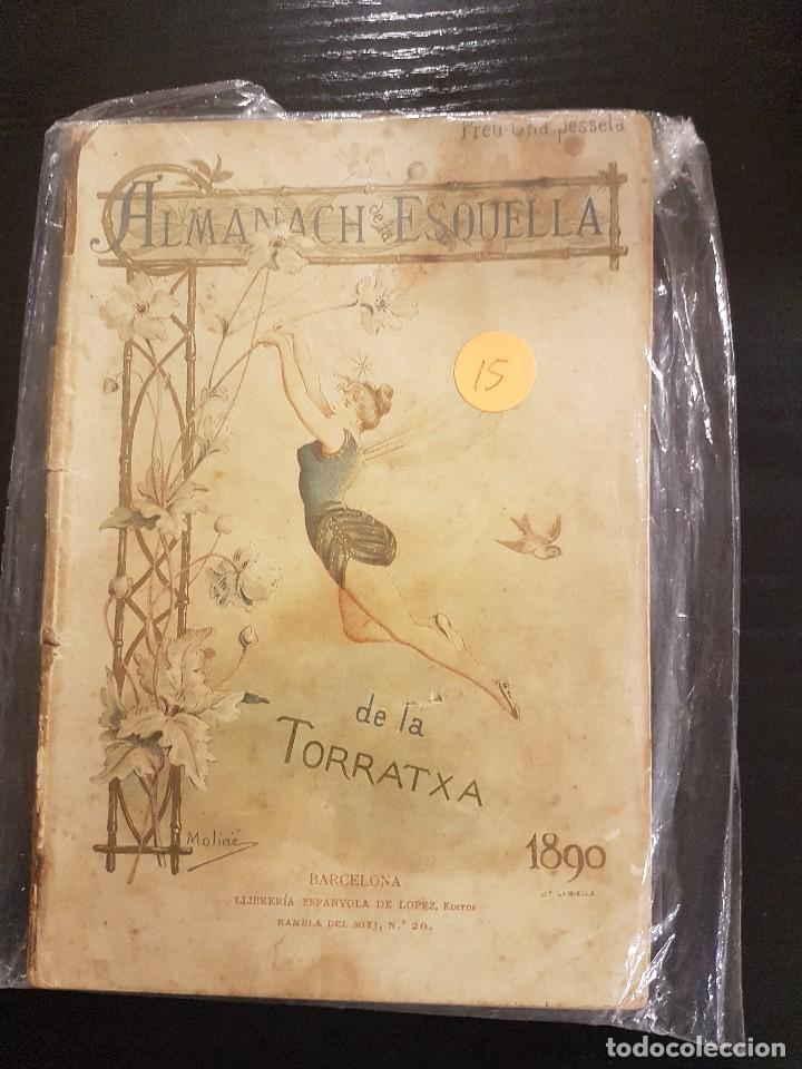 ESQUELLA DE LA TORRATXA ALMANACH 1890 (Coleccionismo - Calendarios)